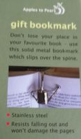 Watering Can shaped Bookmark - stainless steel.